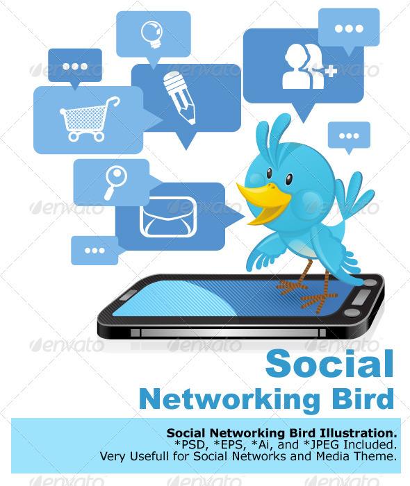 Social Networking Media Bluebird