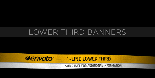 After Effects Project - VideoHive Lower Third Banners 231556