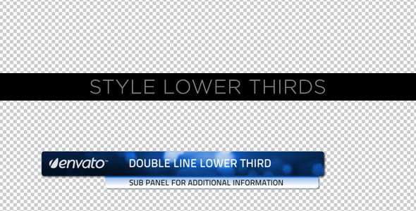 After Effects Project - VideoHive Style Lower Thirds 231560