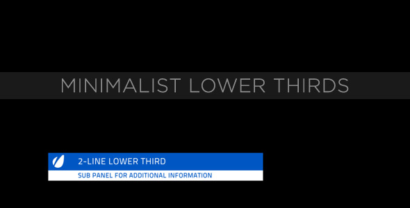 After Effects Project - VideoHive Minimalist Lower Thirds 231564