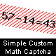 Simple Custom Math Captcha