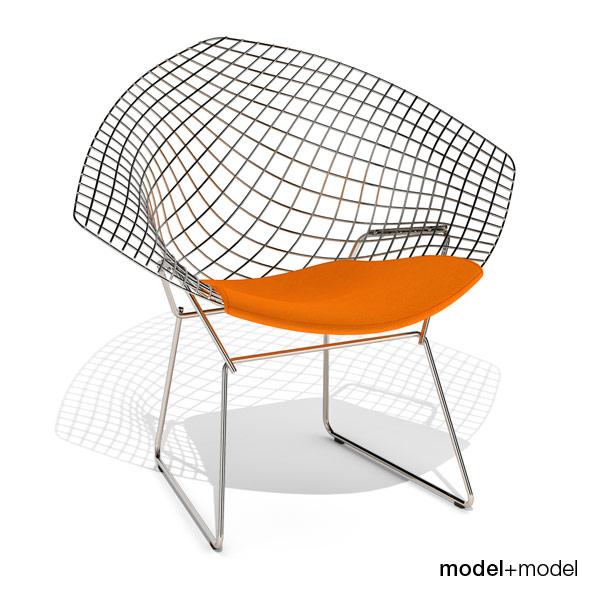 3DOcean Knoll Bertoia Diamond chair 231650