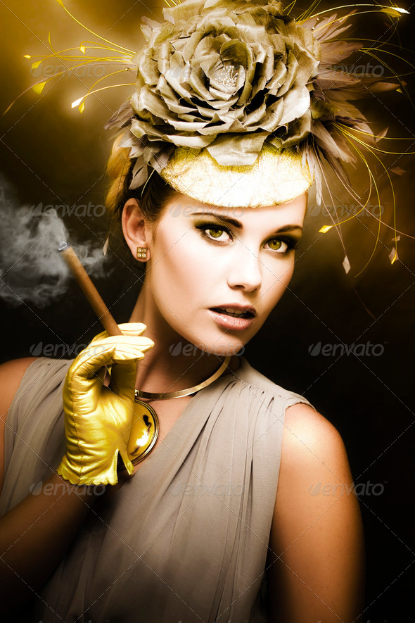 Classic Portrait Of Vintage Cinema - Stock Photo - Images