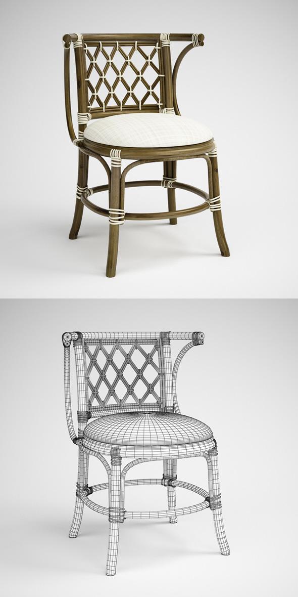3DOcean CGAxis Rattan Chair 01 231679
