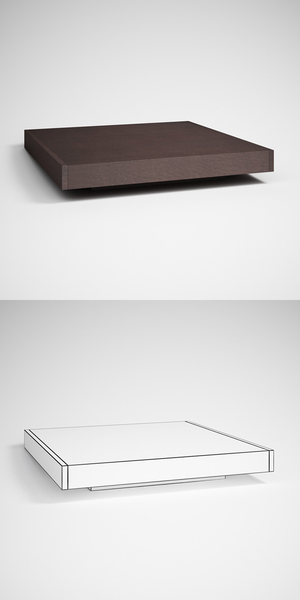 3DOcean CGAxis Contemporary Table 11 231703
