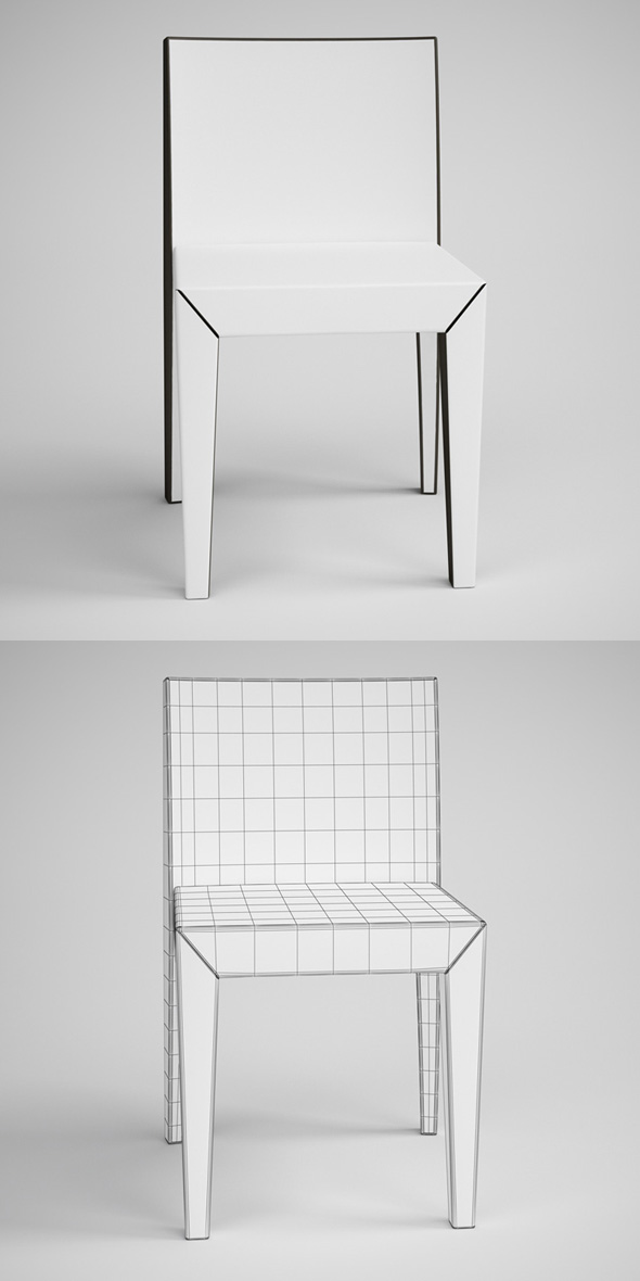 CGAxis Contemporary Side Chair 12
