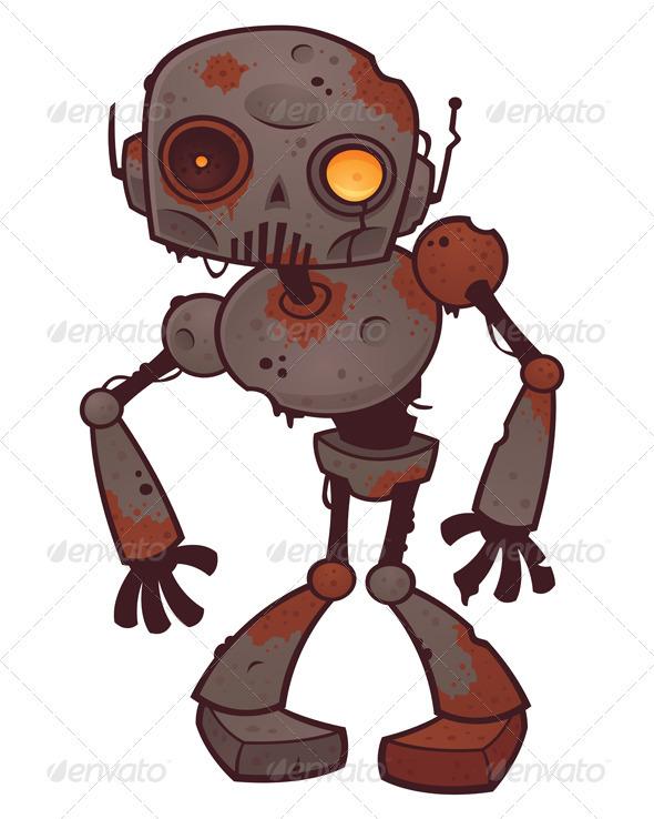 Rusty Zombie Robot - Characters Vectors