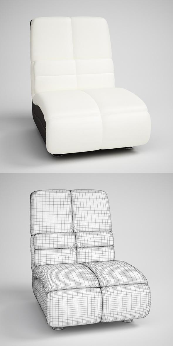 CGAxis Modern Armless Chair 14 - 3DOcean Item for Sale