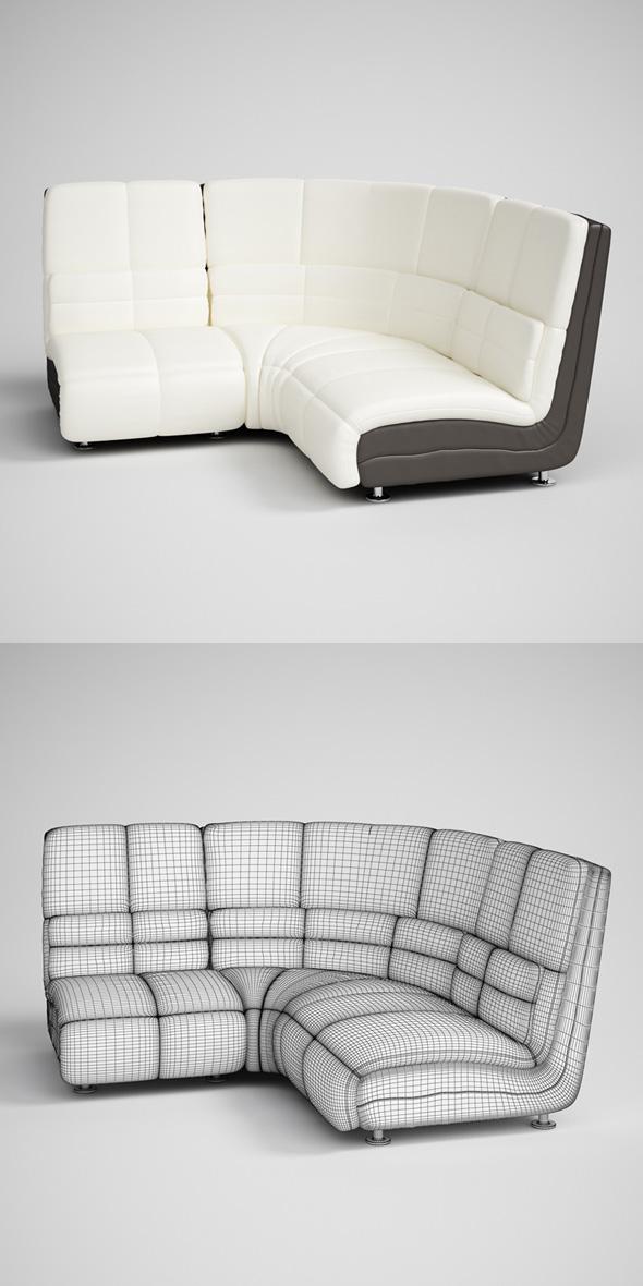 3DOcean CGAxis Modern Corner Sofa 16 231711