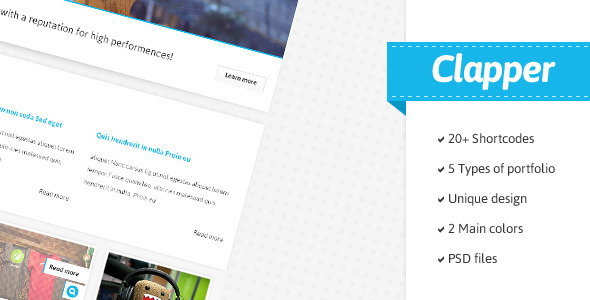 Clapper - Portfolio & Blog HTML Template
