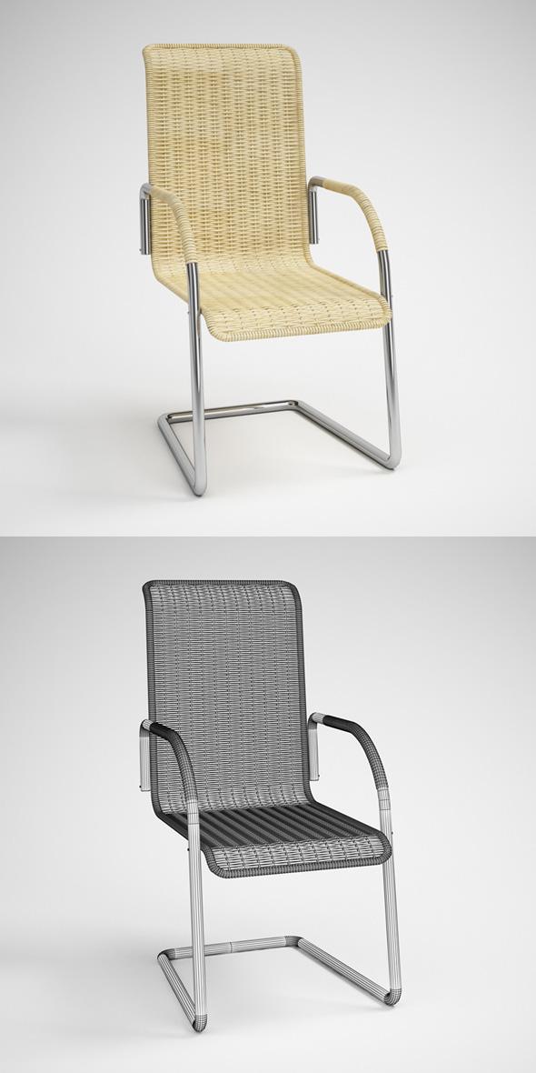 3DOcean CGAxis Wicker Rattan Chair 22 231723