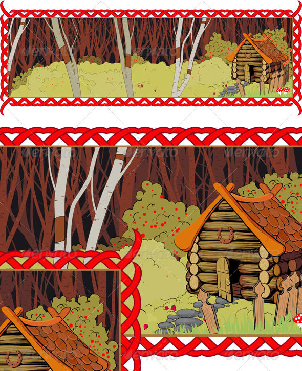 A lonely house in the fairy forest