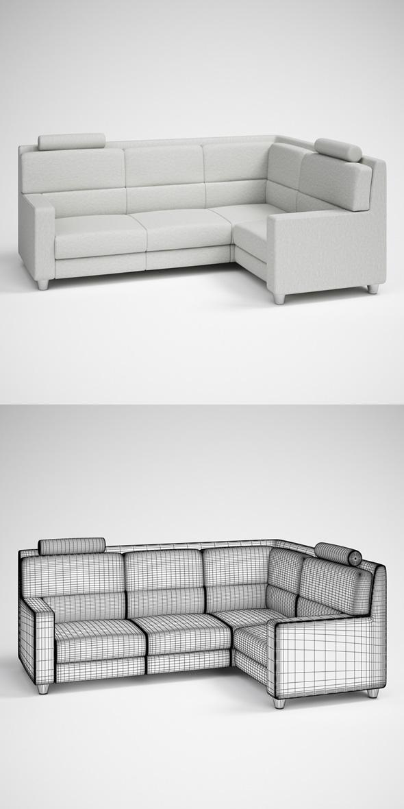 CGAxis Modern Corner Sofa 26 - 3DOcean Item for Sale