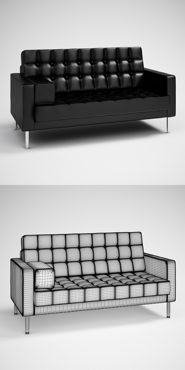 CGaxis Black Modern Sofa 27 - 3DOcean Item for Sale