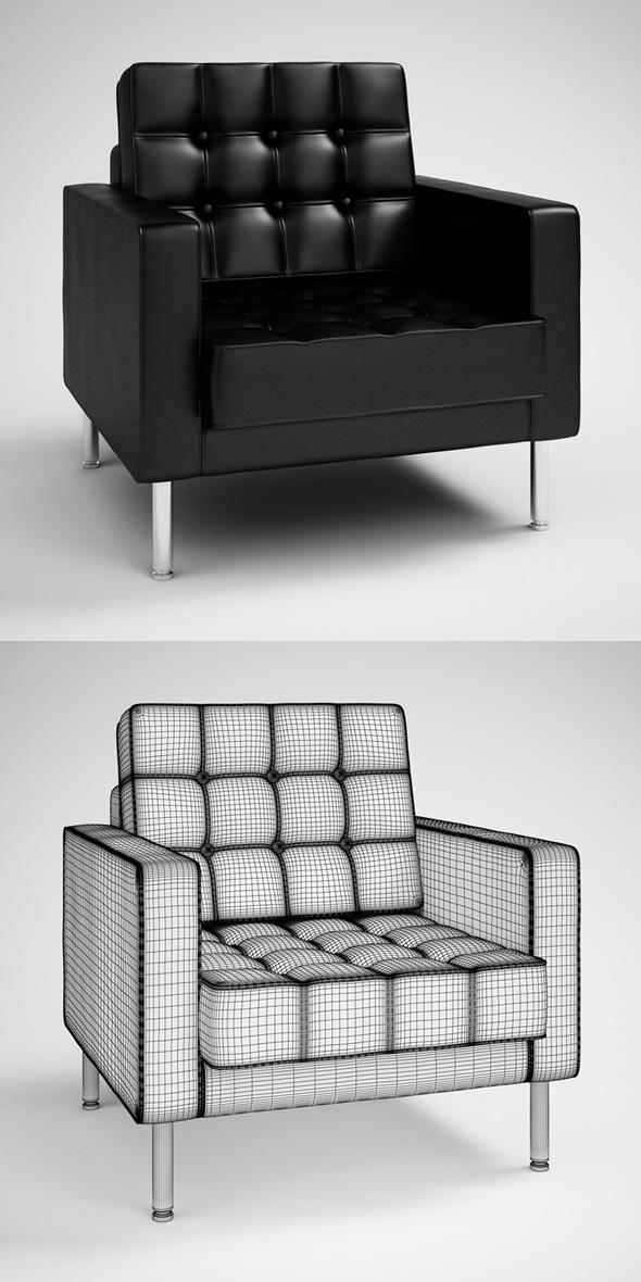 3DOcean CGAxis Black Modern Armchair 28 231742