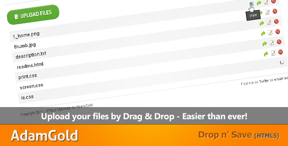 Drop n' Save - Drag & Drop Uploader