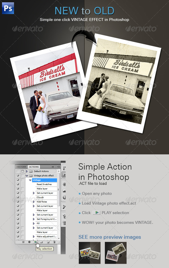 GraphicRiver Vintage Photo Effect 231803