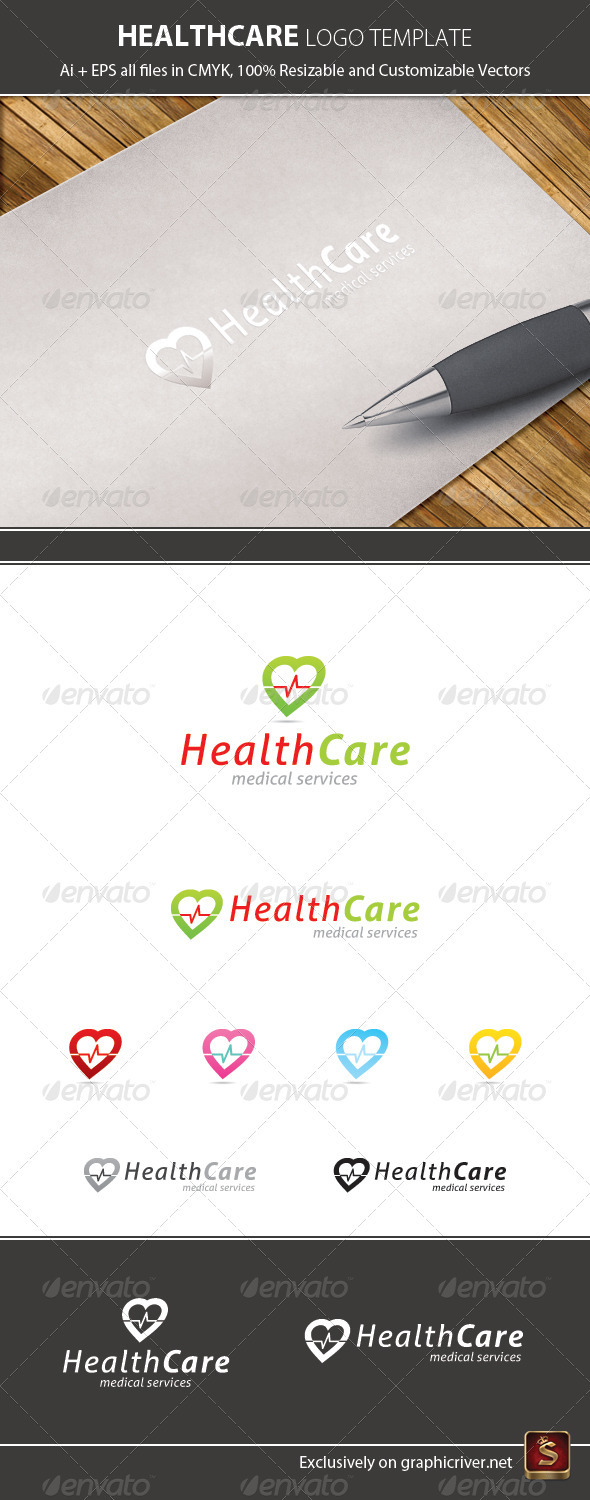 Health Care Logo Template - Vector Abstract