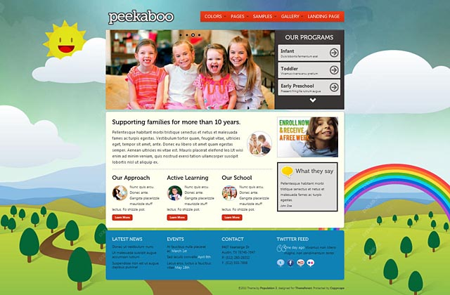 Pekaboo - Children Theme HTML Template - Home page - style 5