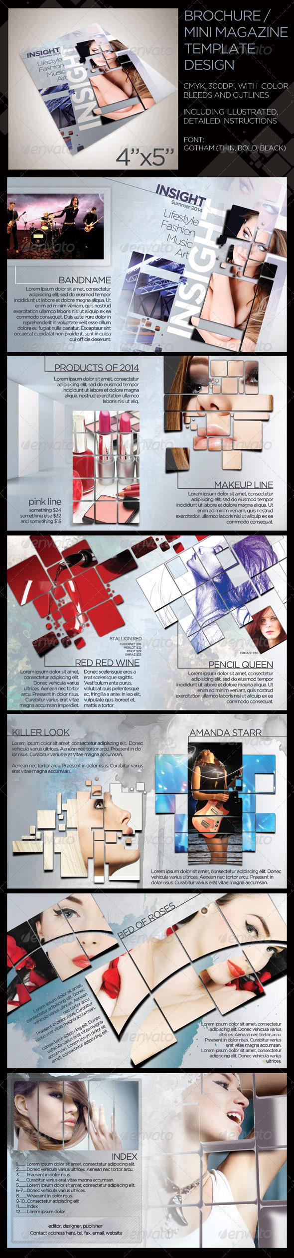 12 page mini lifestyle brochure graphicriver for Mini brochure template
