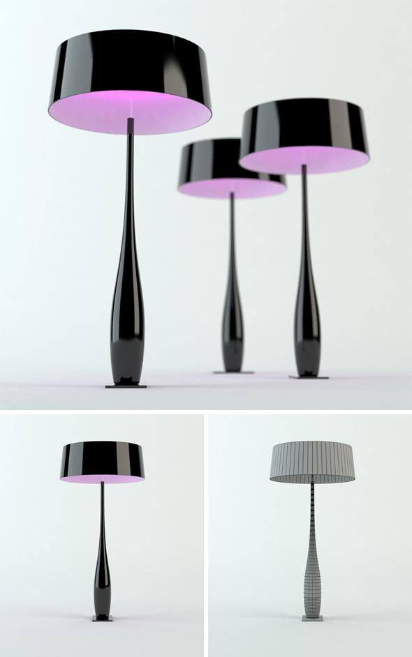 3DOcean MMe Butterfly lamp 231909