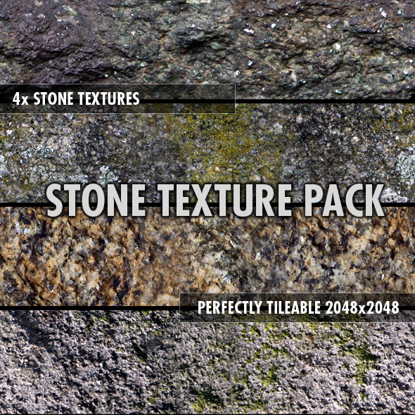 3DOcean Stone Textures Pack x4 76489