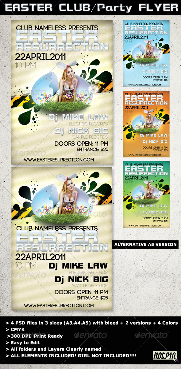 Easter Party flyer - Clubs & Parties Events