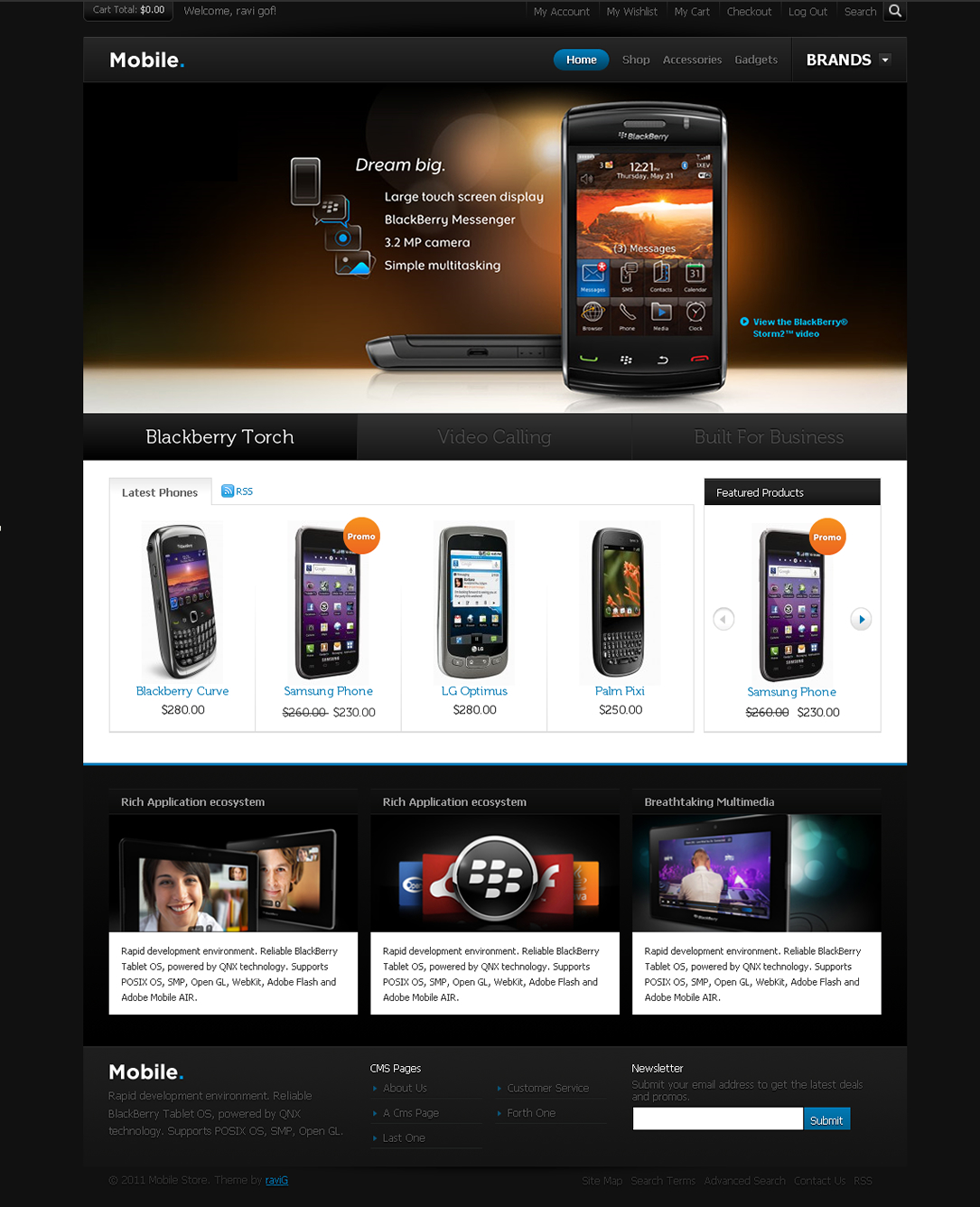 Mobile Magento Theme - Mobile Magento Theme with admin options