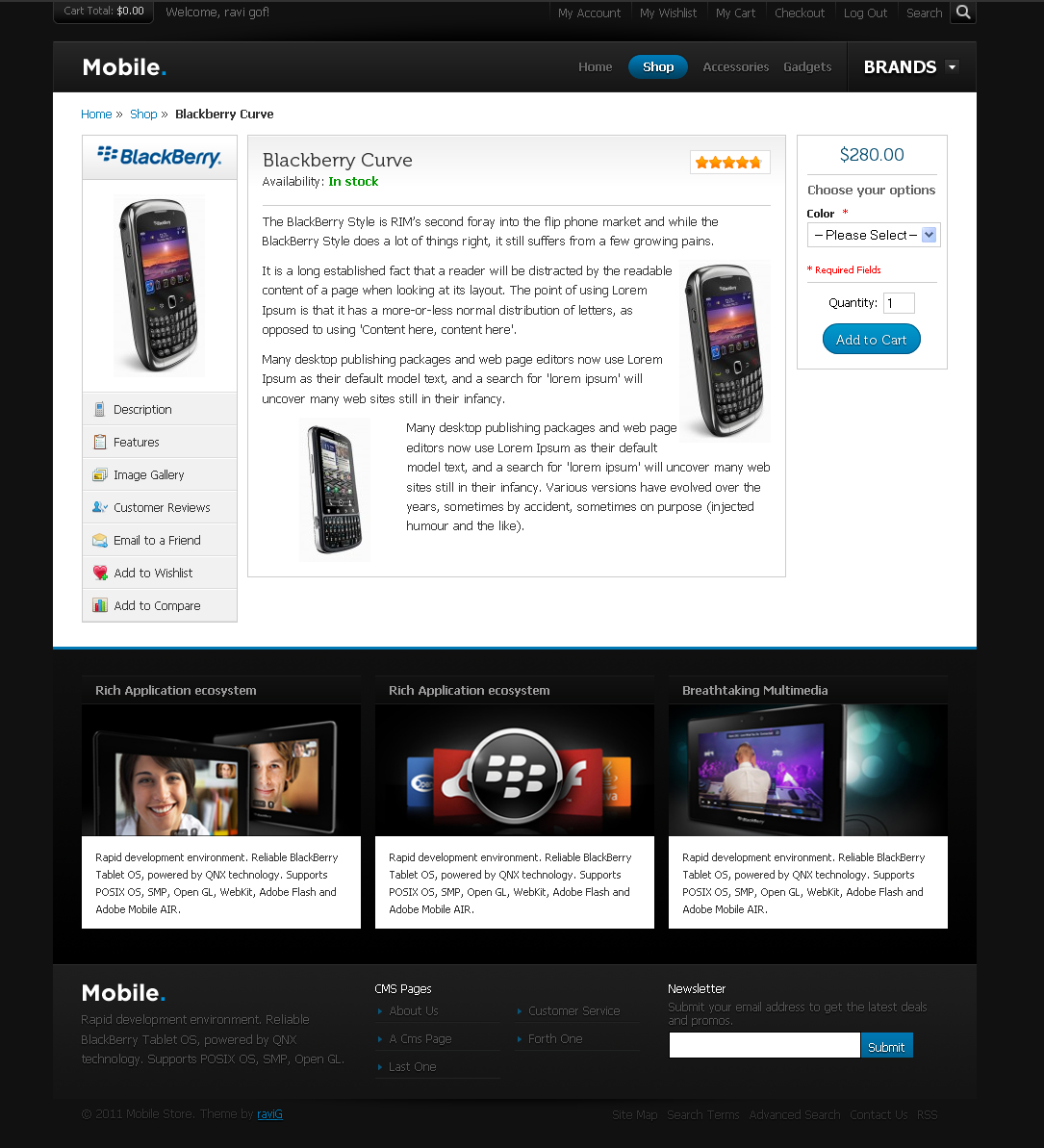 Mobile Magento Theme - Mobile Product View