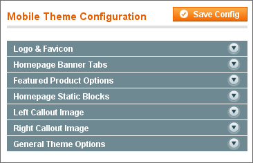 Mobile Magento Theme - Admin Options