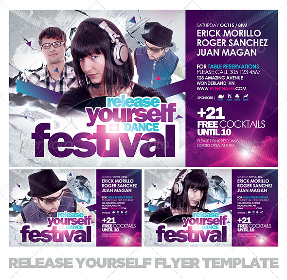 Release Yourself Flyer Template - Clubs & Parties Events