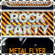 Rock / HipHop flyer w/ Tickets - GraphicRiver Item for Sale