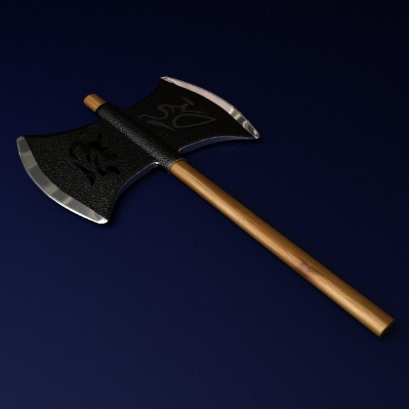 Double Headed Axe - 3DOcean Item for Sale