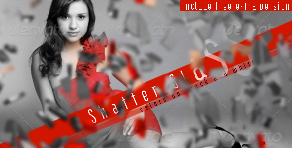 After Effects Project - VideoHive Shatter Glass Colors On Black And White 1 ...