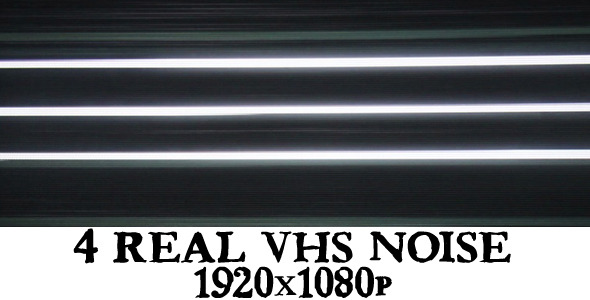 VideoHive 4 Vhs Real Noise Full Hd 1995359