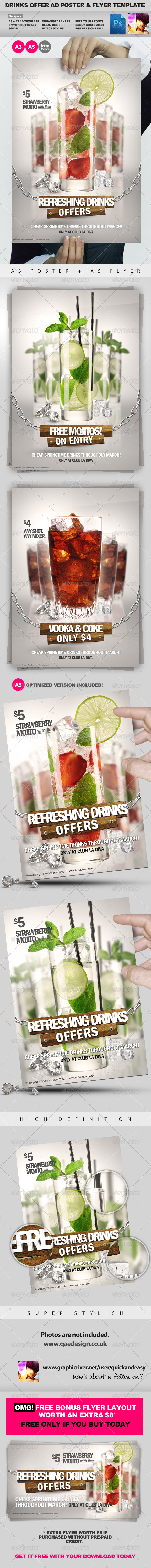 GraphicRiver Drinks Promotion Advert Template Vol.2 1203637