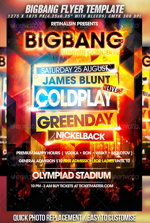 BigBang Flyer Template - Concerts Events