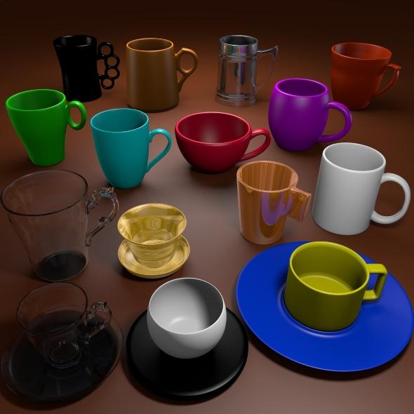 3DOcean 3D Cup Pack 164429