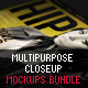 Multipurpose Closeup Mockups Bundle - GraphicRiver Item for Sale