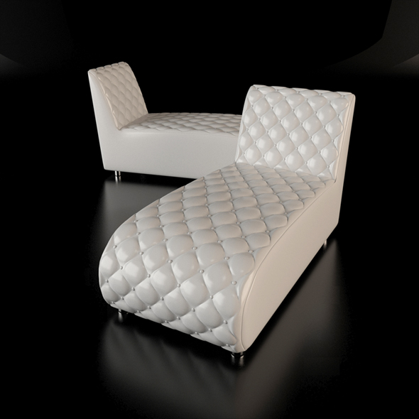 Button chaise longue - 3DOcean Item for Sale
