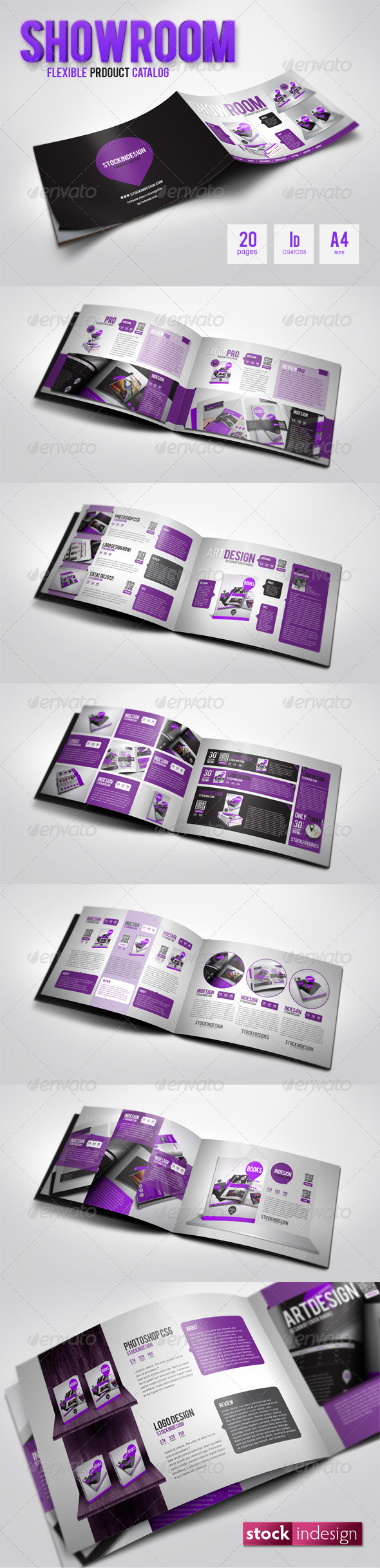 Graphic River ShowRoom Flexible Product Catalog Print Templates -  Brochures  Corporate 1995431
