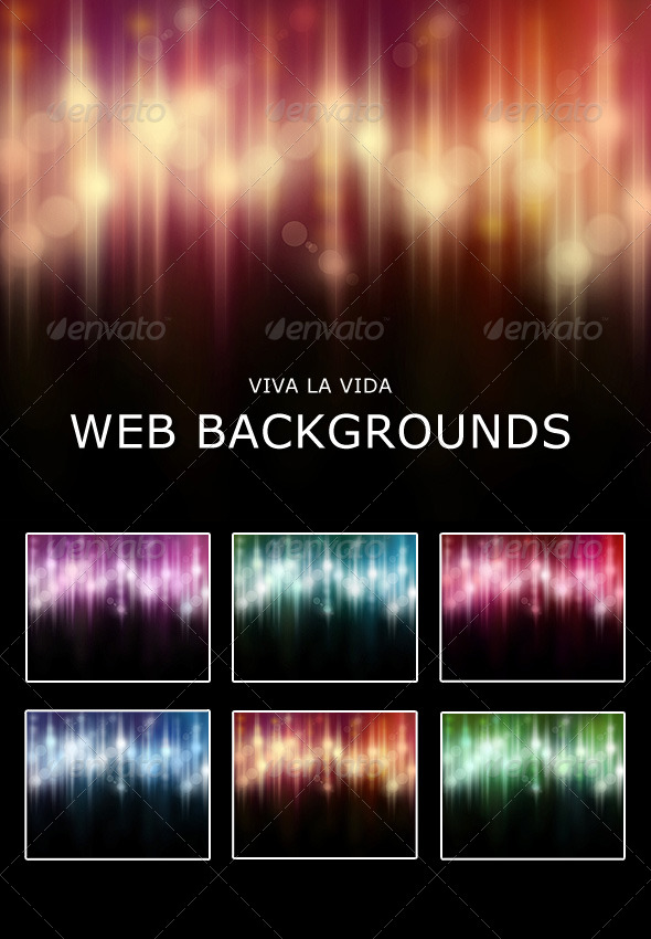 GraphicRiver Viva La Vida Web Backgrounds 232131