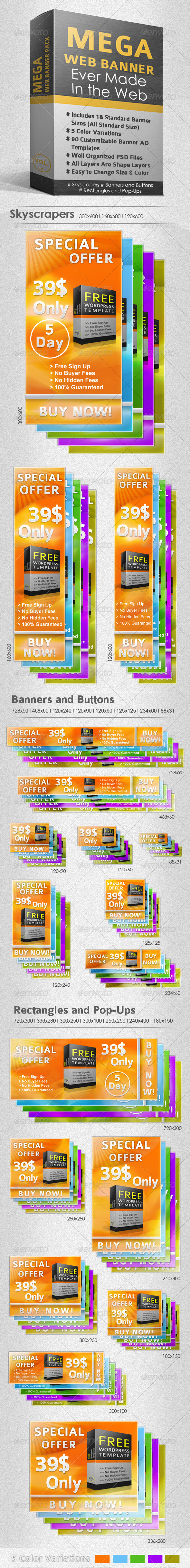 GraphicRiver Inescapable Web Banner Pack 229419