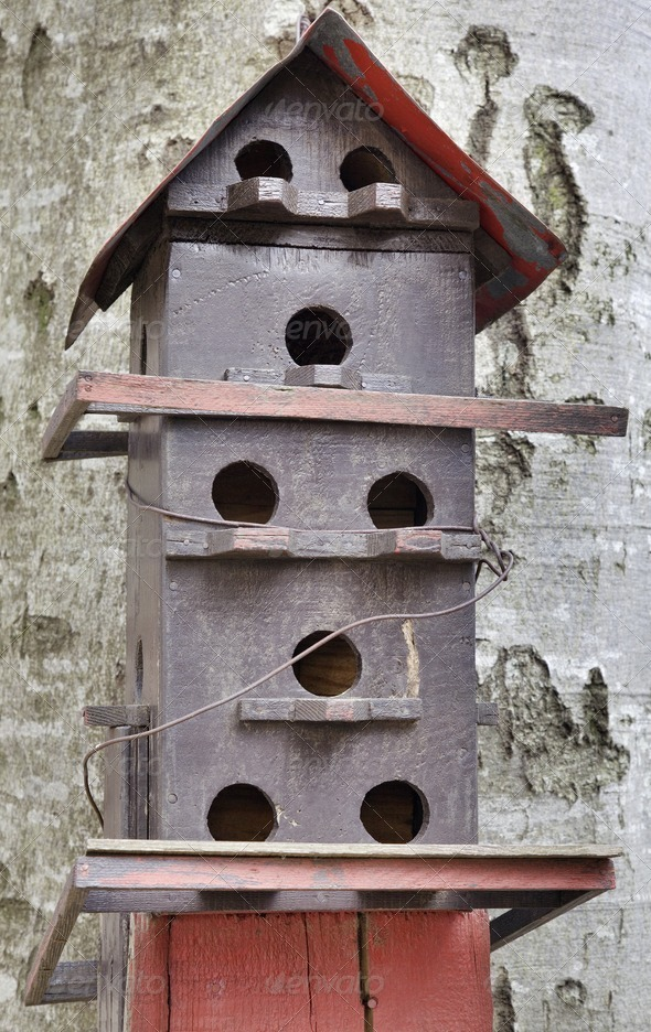 Bird house - Stock Photo - Images