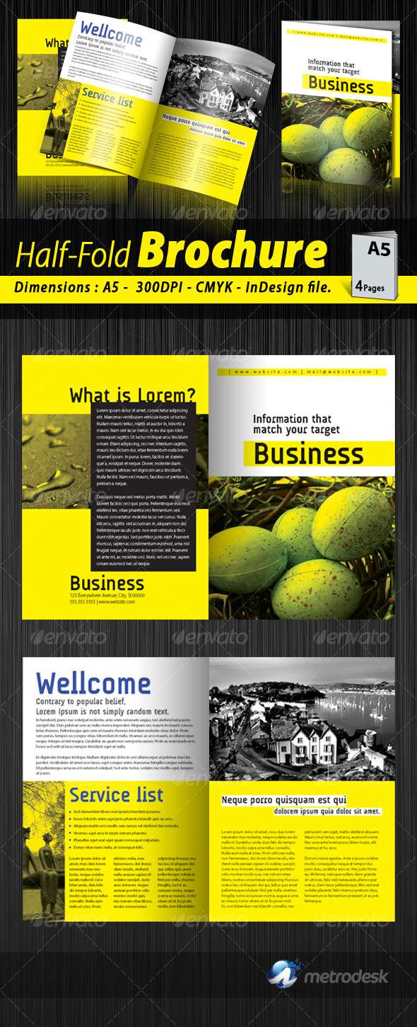 GraphicRiver A5 Half-fold corporate brochure [4 pages] 72016