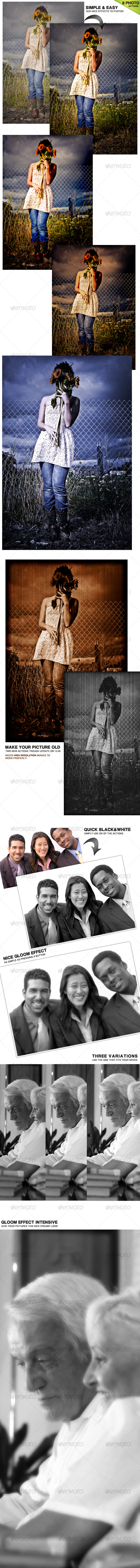 GraphicRiver 6 Photoshop Actions 64901