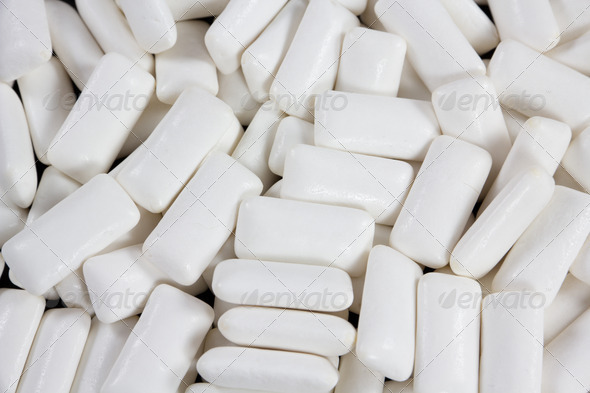 closeup of white gums - Stock Photo - Images