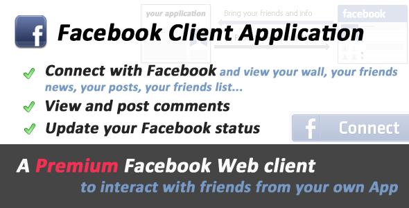CodeCanyon Facebook Premium Client Application 232385