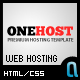 OneHost Preimum Hosting + Portfolio Template - ThemeForest Item for Sale