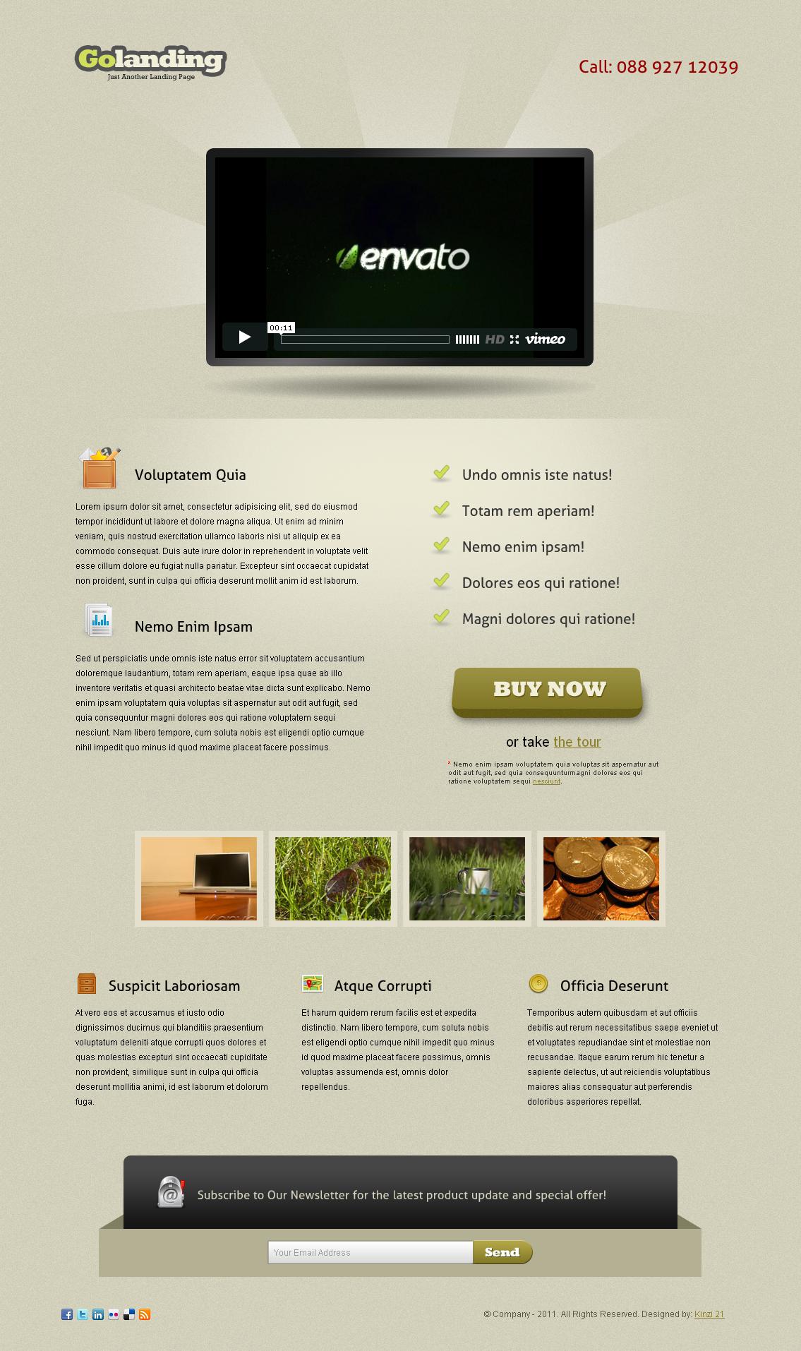Golanding - A Creative-Clean Landing Page